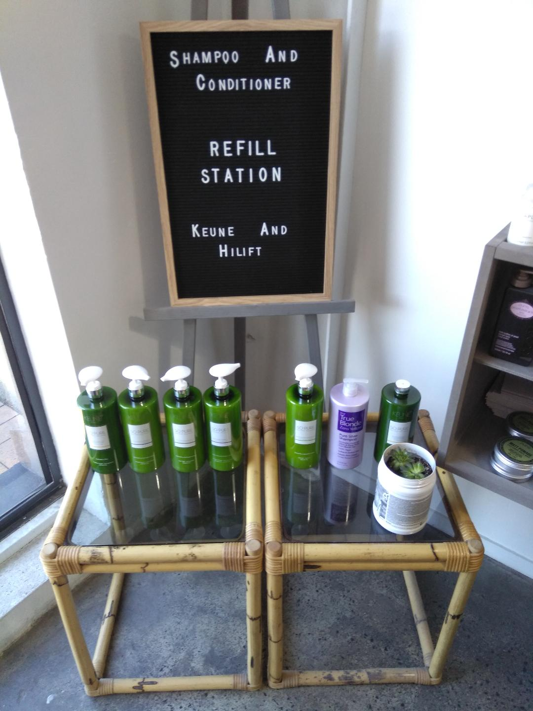 Clip Joint Hairdressing refill station